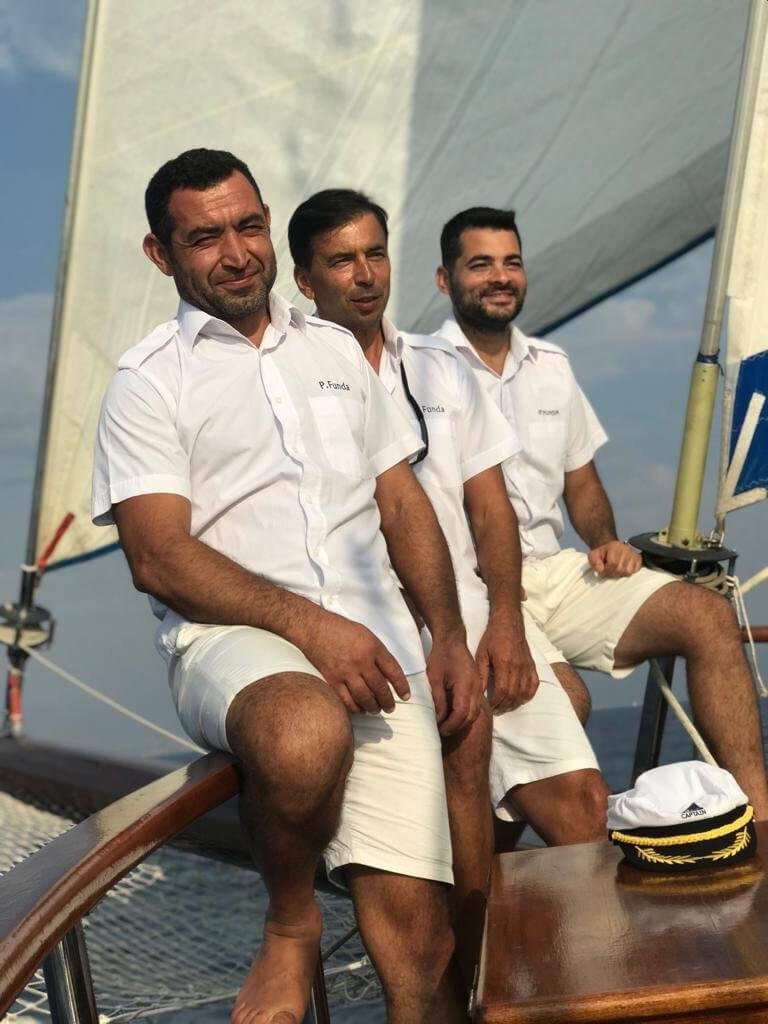Captain Necati I the Crew of Princess Funda Yacht