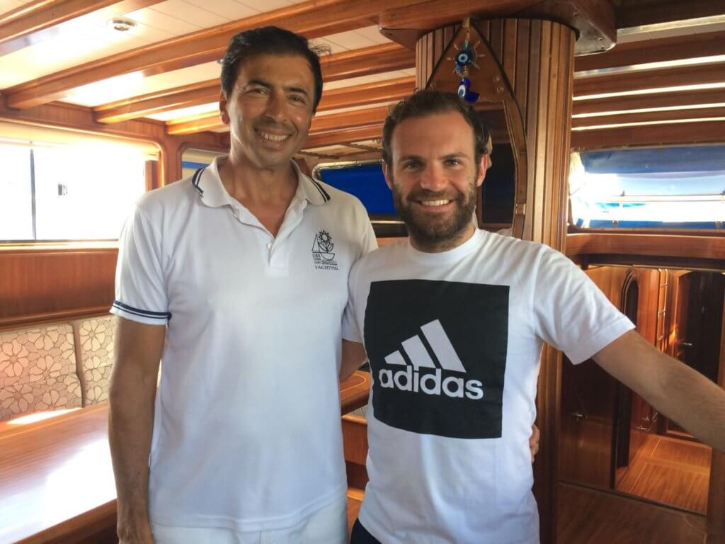 Juan Matta with Captain Necati on board of Luxury @ Princess Funda Yacht