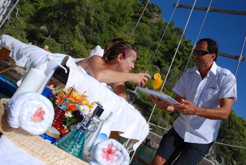 Relax Hour by Privat crewed Princess Funda Yacht Turkey