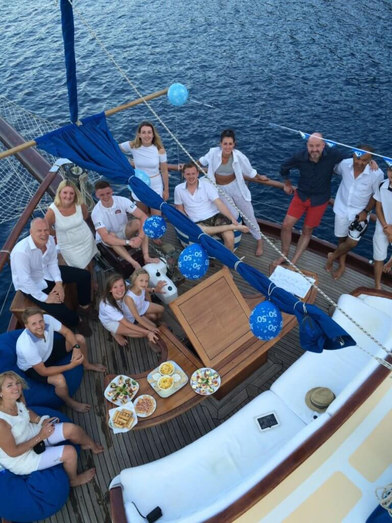 Apero with Family and Friends aboard of Luxury Princess Funda Yacht Turkey