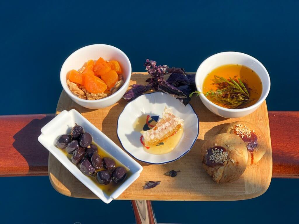 Homemade, sustainable food by Luxury Princess Funda Gulet Yacht Marmaris Turkey