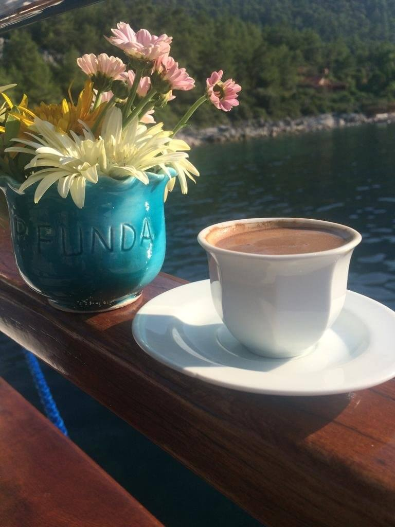 Time out I Turkish Coffee aboard of Princess Funda Gulet Yacht