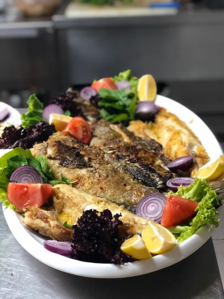 Turkish Cuisine I Fresh fish prepared Turkish style aboard Princess Funda Yacht1