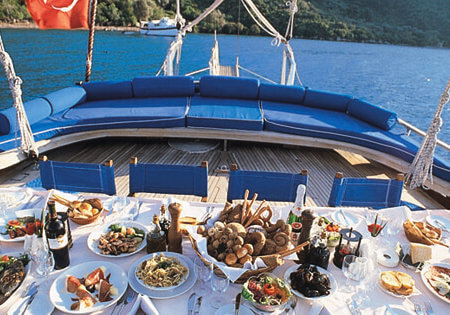 The world famous Turkish cuisine aboard Luxury Princess Funda Yacht